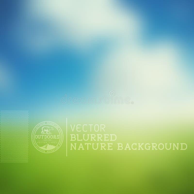 Fondo borroso de la naturaleza del vector ilustración del vector