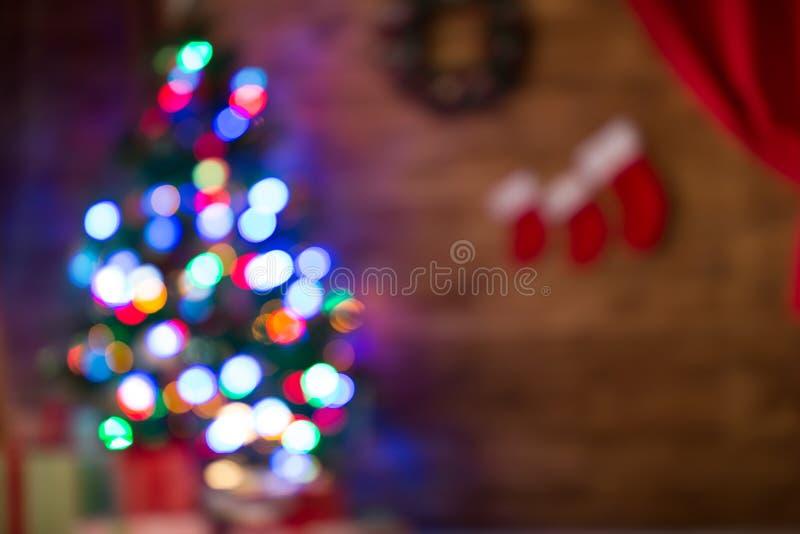 Fondo borroso de la Navidad foto de archivo libre de regalías