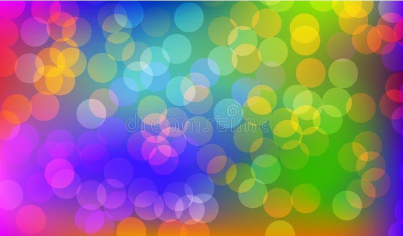 Fondo borroso del bokeh de la burbuja para el diverso uso ilustración del vector