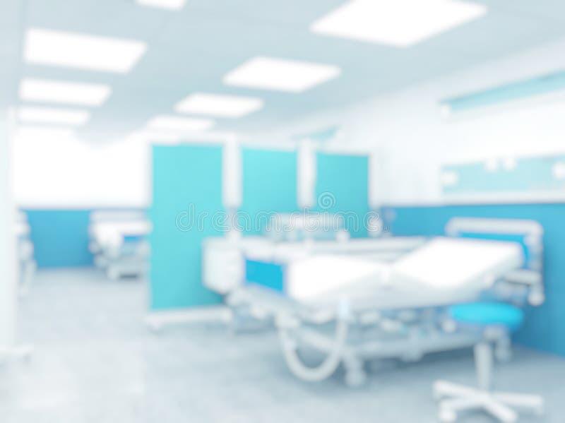 Fondo borroso del hospital imagen de archivo