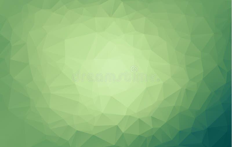 Fondo borroso del triángulo del vector verde claro Un ejemplo brillante elegante con pendiente Totalmente un nuevo diseño para su stock de ilustración