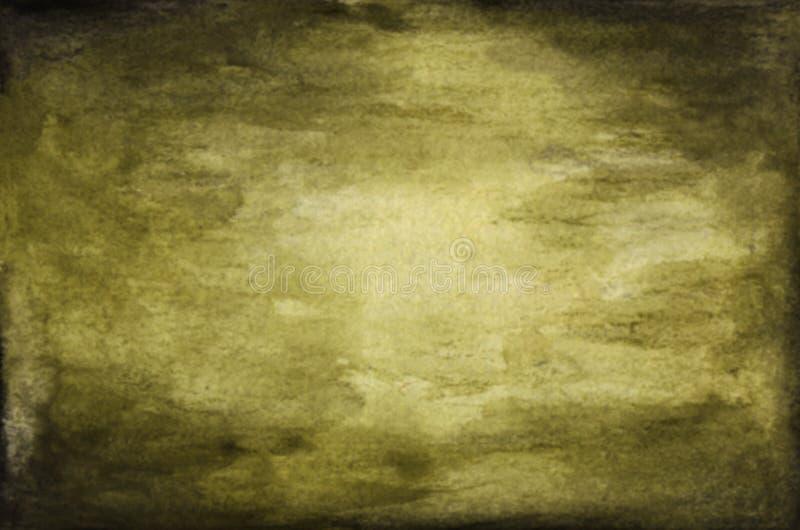 Fondo borroso del verde del vintage, fondo abstracto verde oscuro de la textura de la acuarela libre illustration