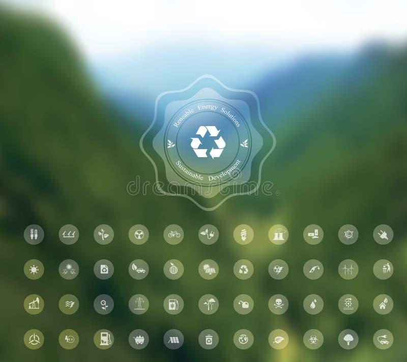 Fondo borroso ecología ilustración del vector