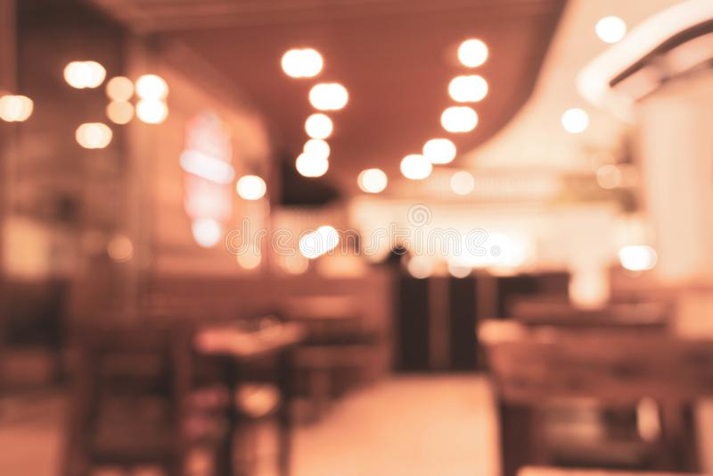 Fondo borroso en el fondo de la falta de definición del restaurante con el bokeh foto de archivo libre de regalías