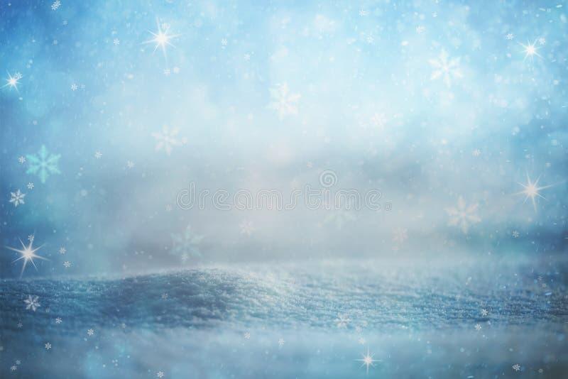 Fondo borroso extracto de la estación del invierno imágenes de archivo libres de regalías
