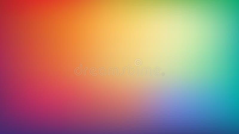 Fondo borroso extracto de la malla de la pendiente Colores brillantes de moda del arco iris Plantilla lisa colorida moderna de la ilustración del vector