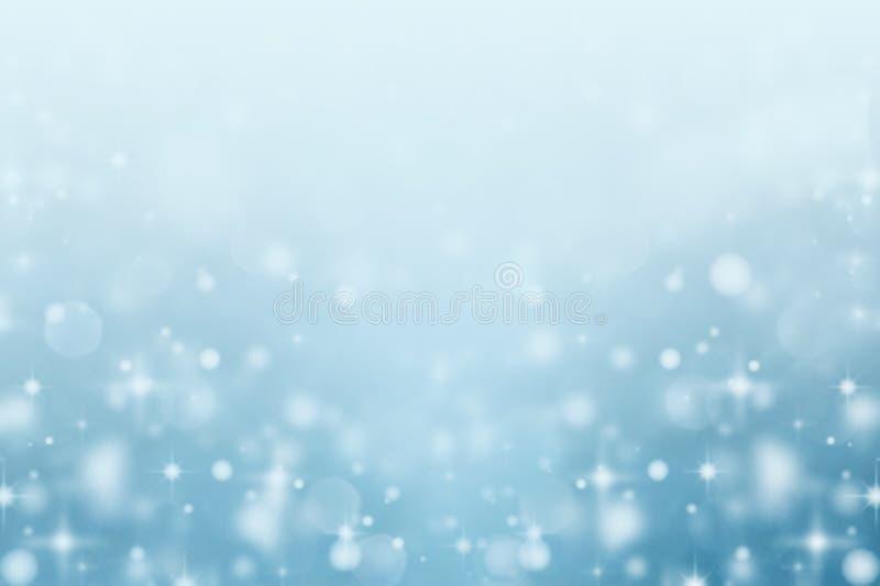 Fondo borroso extracto del bokeh de la nieve imagenes de archivo