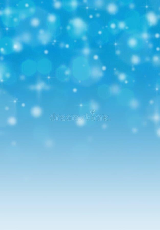 Fondo borroso extracto del bokeh de la nieve imágenes de archivo libres de regalías