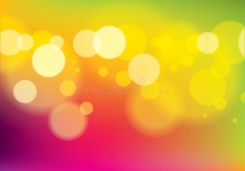 Fondo borroso extracto urbano Defocused de la textura de las luces Ejemplo colorido del vector para su diseño Abstracción perfect stock de ilustración