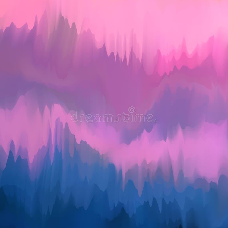 Fondo borroso inusual en los colores de color de malva y púrpura-azules, imitación de los goteos de la pintura, vector libre illustration