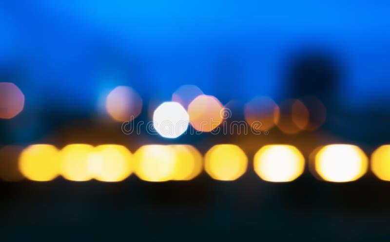 Fondo borroso luz abstracta de la noche imagen de archivo