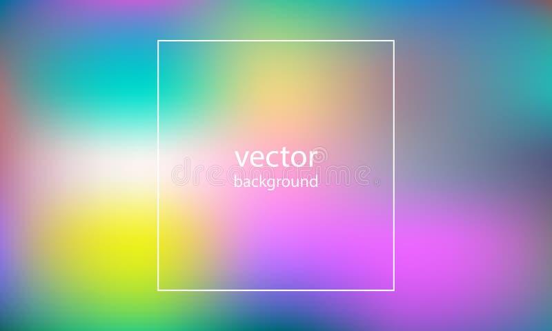 Fondo borroso multicolor del vector creativo abstracto del concepto Para el web y las aplicaciones móviles, desi de la plantilla  fotos de archivo