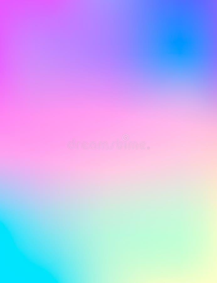 Fondo borroso multicolor moderno vector creativo del concepto Plantilla para el cartel, aviador y presentación, bandera, web y mo stock de ilustración