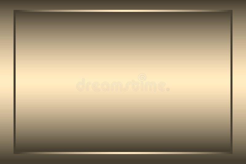 Fondo borroso oro del estilo de la pendiente del vector Papel pintado liso de lujo abstracto del ejemplo libre illustration