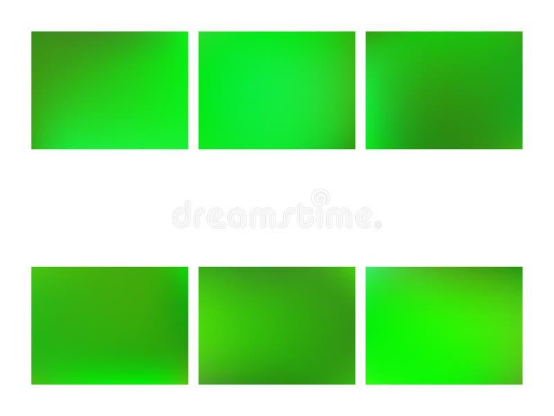 Fondo borroso verde de la malla de la pendiente del extracto stock de ilustración