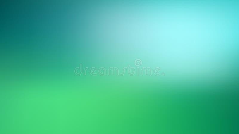 Fondo borroso verde y azul abstracto de la malla de la pendiente con la luz Colores de moda Contexto moderno de la naturaleza Con stock de ilustración