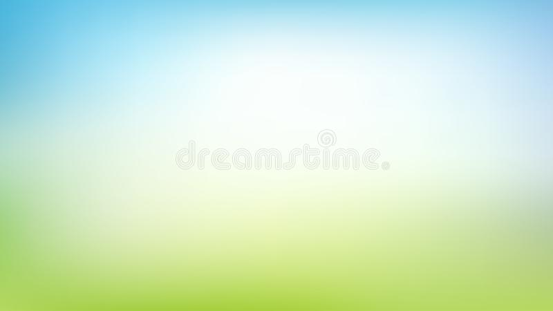 Fondo borroso verde y azul abstracto de la malla de la pendiente con la luz Colores de moda Contexto moderno de la naturaleza Con ilustración del vector