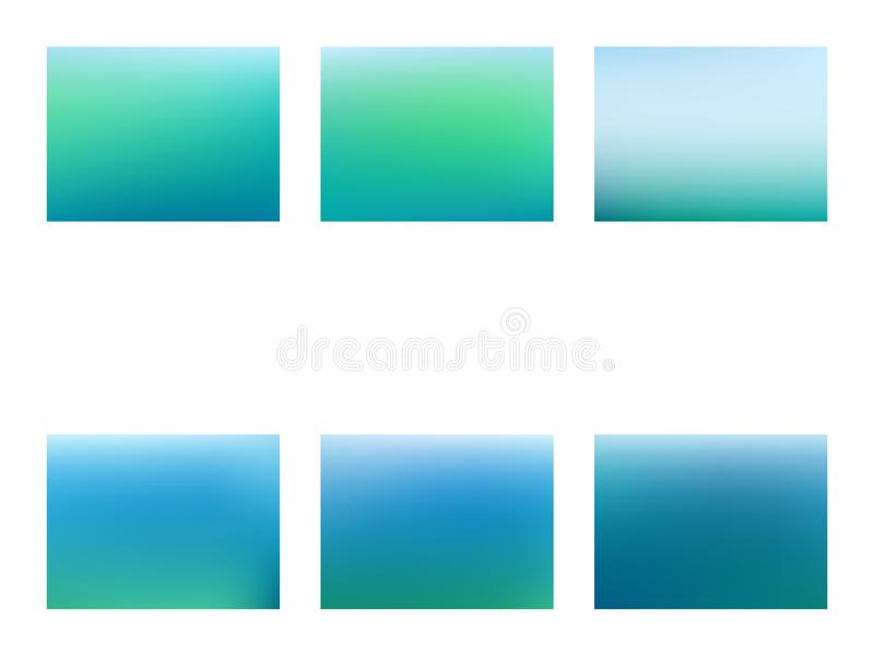 Fondo borroso verde y azul abstracto de la malla de la pendiente stock de ilustración
