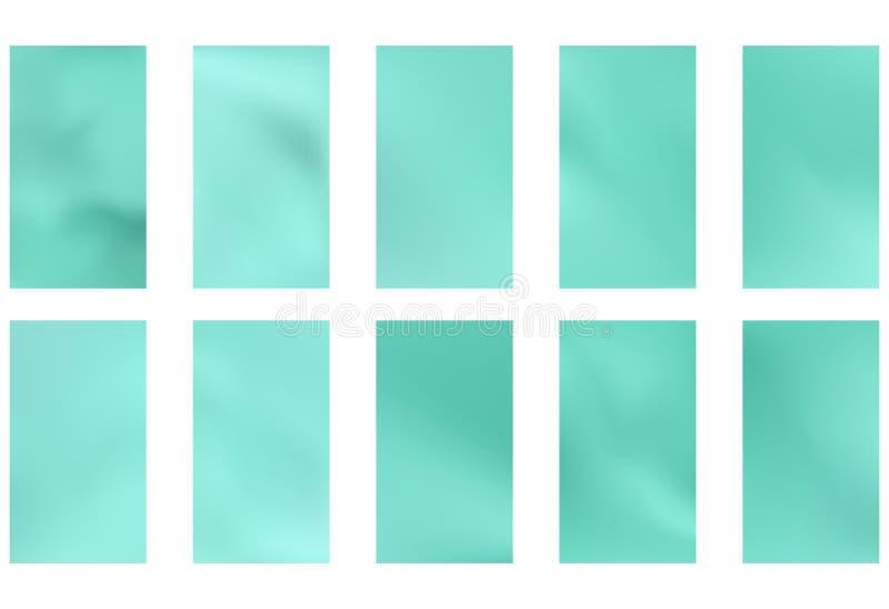 Fondo borroso verde y azul abstracto de la pendiente con la luz Contexto de la naturaleza Ilustración del vector Concepto de la e stock de ilustración