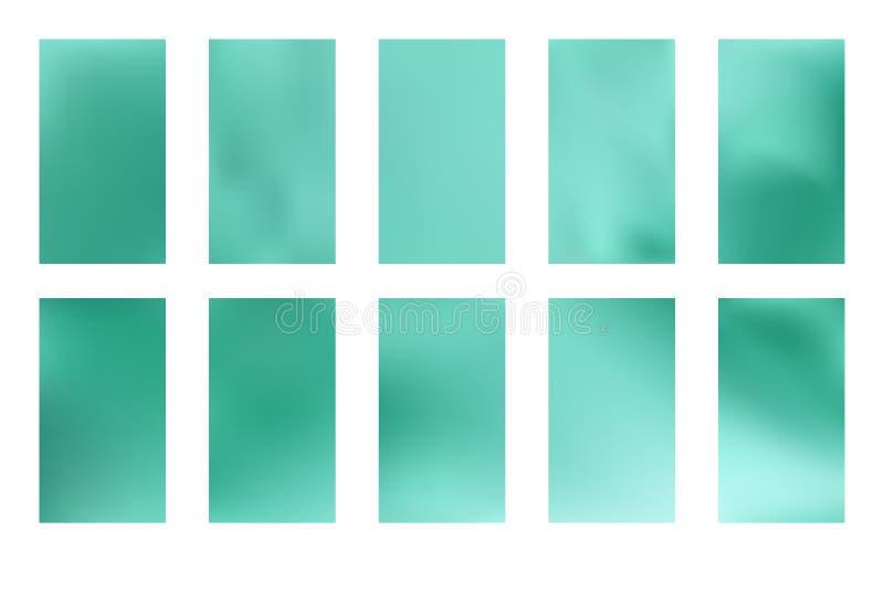 Fondo borroso verde y azul abstracto de la pendiente con la luz Contexto de la naturaleza Ilustración del vector Concepto de la e libre illustration
