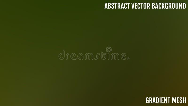 Fondo borroso verde y azul abstracto de la pendiente con la luz Contexto de la naturaleza Fondo vacío de seda liso sombreado ilustración del vector