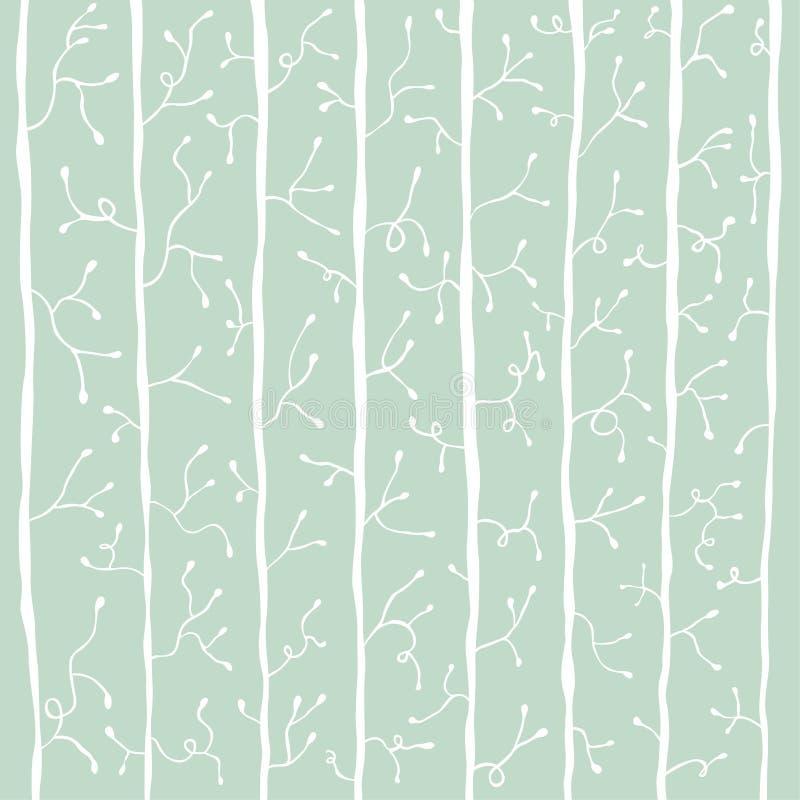 Fondo botánico abstracto en color frío libre illustration