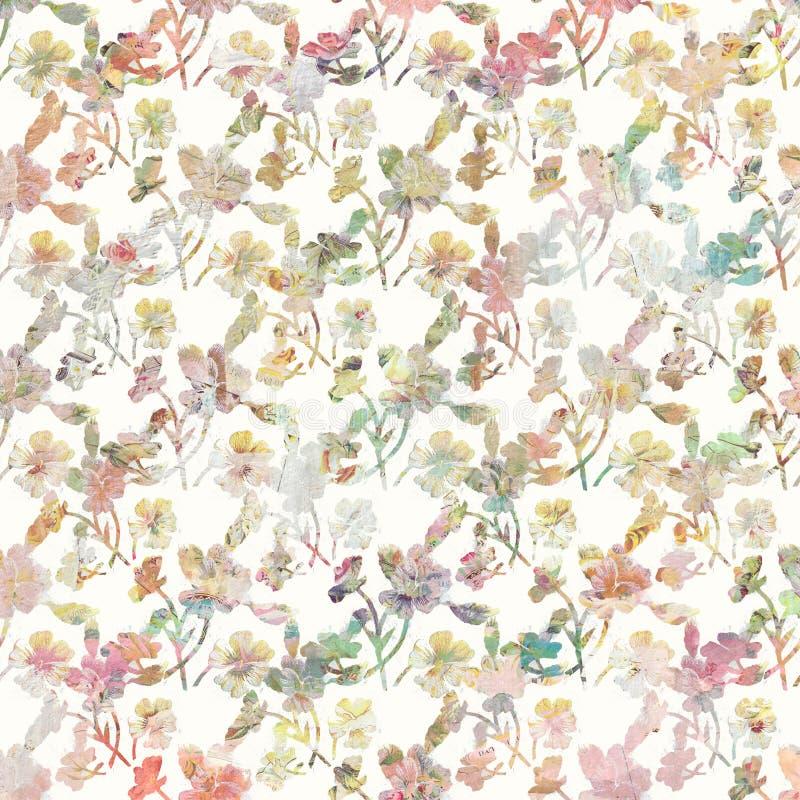 Fondo botánico floral de la primavera del vintage en colores en colores pastel suaves libre illustration