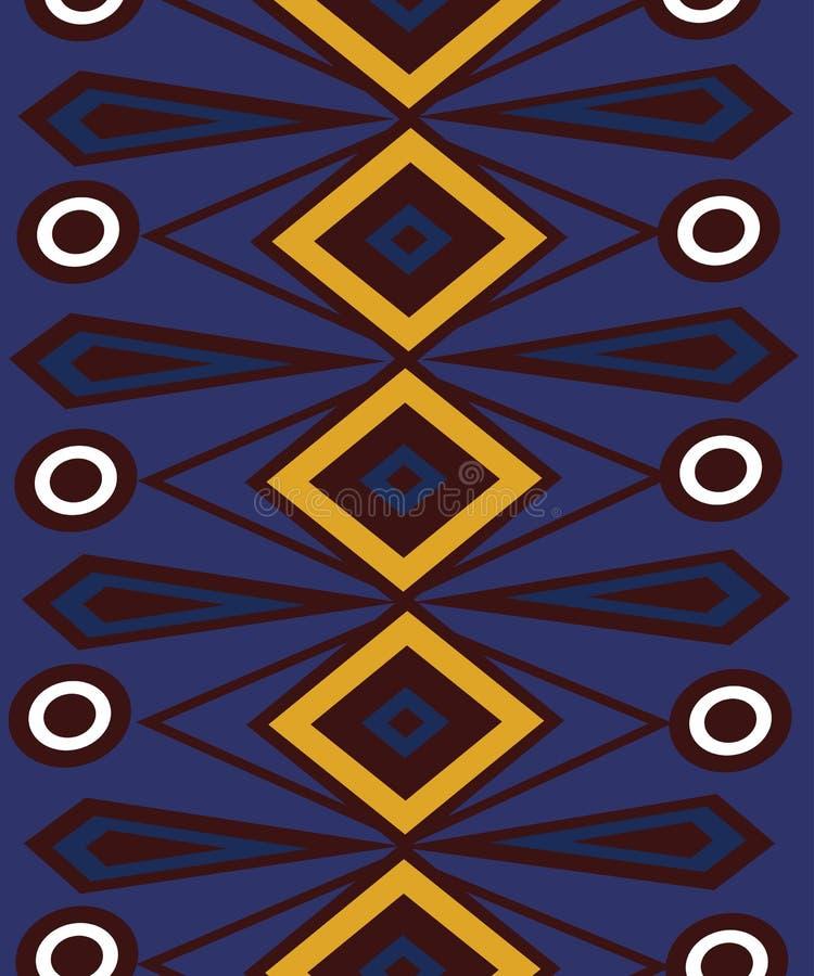 Fondo brillante abstracto étnico del modelo ilustración del vector