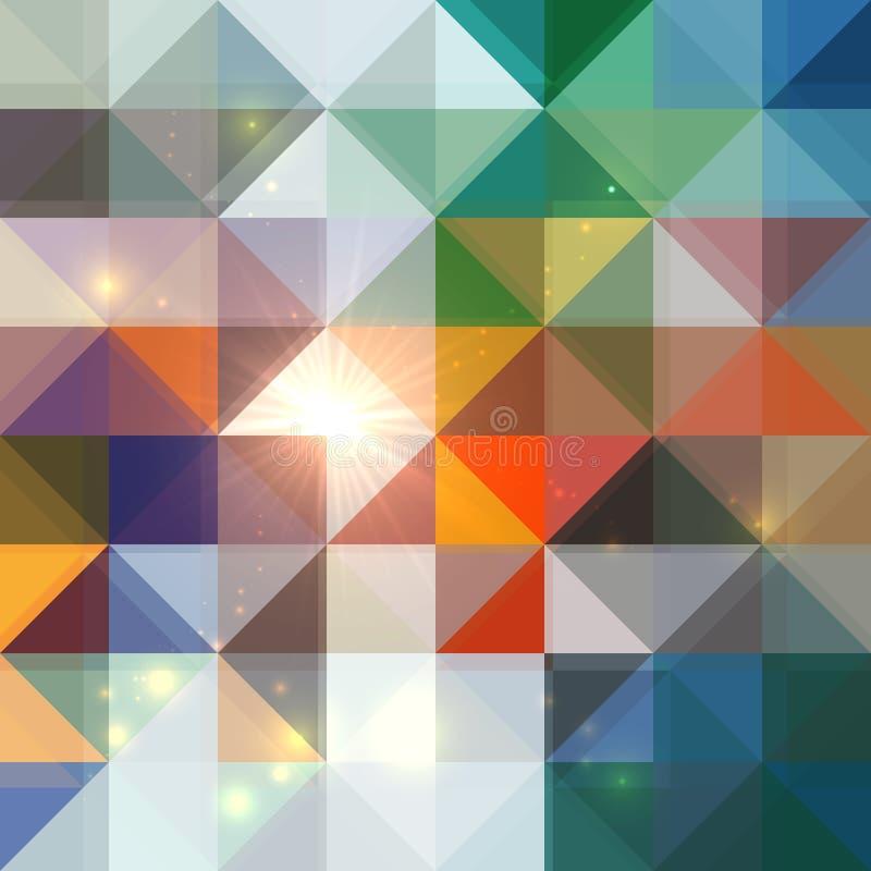 Fondo brillante abstracto brillante de los triángulos libre illustration
