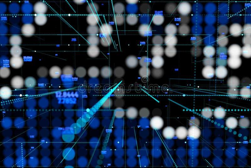 Fondo brillante abstracto de la oscuridad del brillo Concepto de la tecnología stock de ilustración