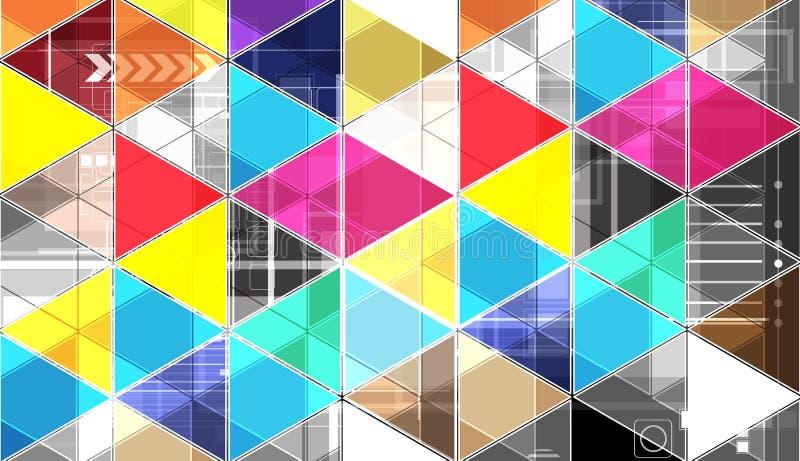 Fondo brillante abstracto de la tecnología del triángulo libre illustration