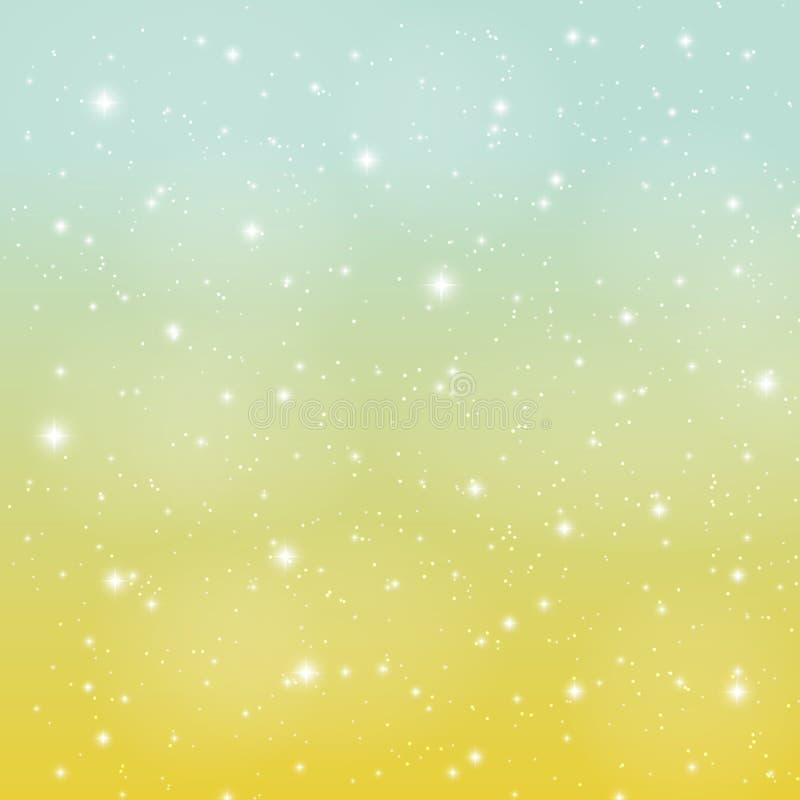 Fondo brillante abstracto del ejemplo del vector del cielo de la estrella ilustración del vector