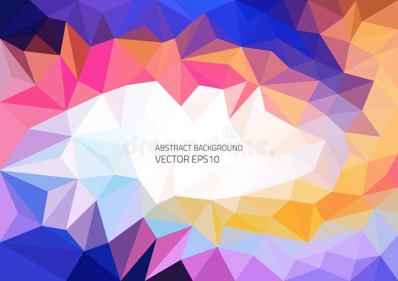 Fondo brillante abstracto del vector de elementos poligonales Colores que ponen en contraste El movimiento del color y de las for ilustración del vector