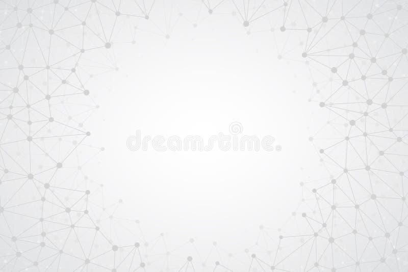 Fondo brillante abstracto del vector de Simple Tech libre illustration