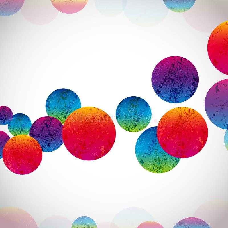 Fondo brillante abstracto multicolor Circunda los elementos para el dise?o EPS10 fotos de archivo