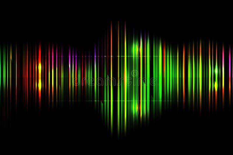 Fondo brillante abstracto oscuro del espectro de tecnología stock de ilustración