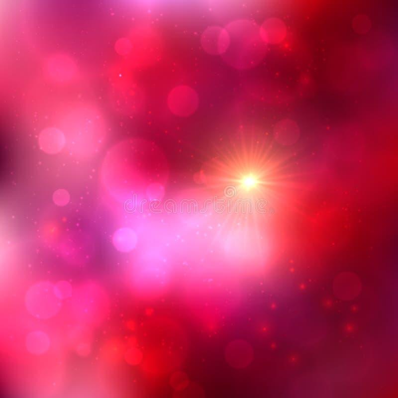 Fondo brillante abstracto rosado brillante del vector ilustración del vector