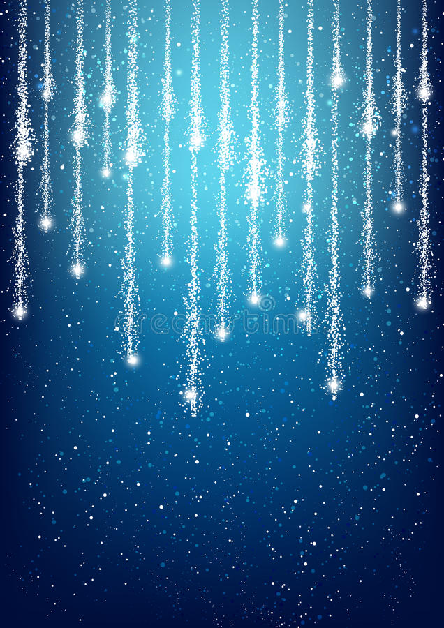 Fondo brillante azul abstracto de las luces ilustración del vector