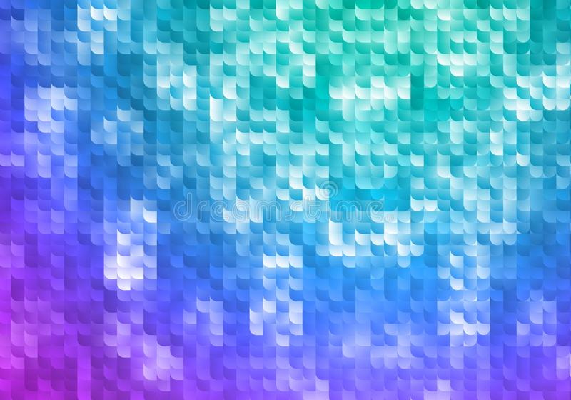 Fondo brillante azul y púrpura Textura de mosaico del vector Papel pintado geométrico abstracto con pendiente ilustración del vector