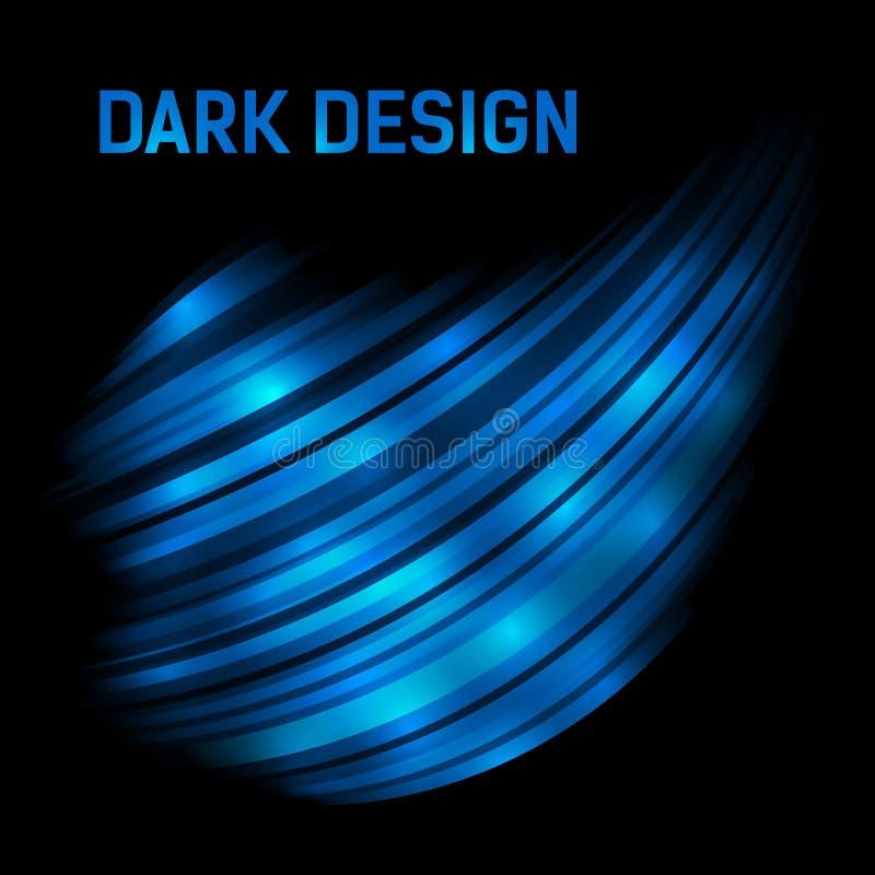 Fondo brillante blu scuro astratto 3d fotografia stock libera da diritti