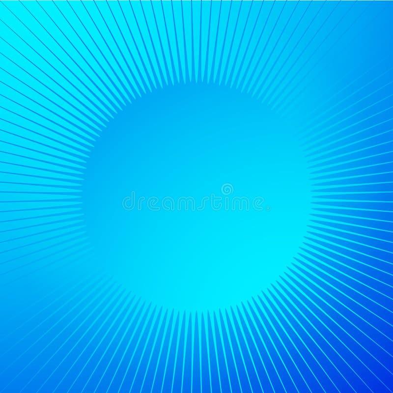Fondo brillante brillante con forma de la chispa Líneas radiales, starb libre illustration