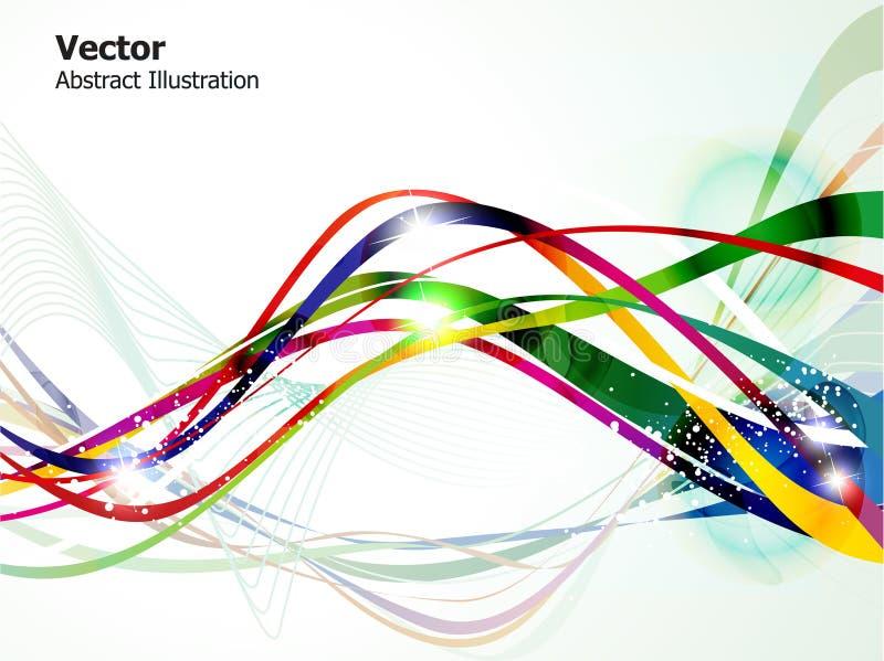 Fondo brillante colorido abstracto de la onda stock de ilustración