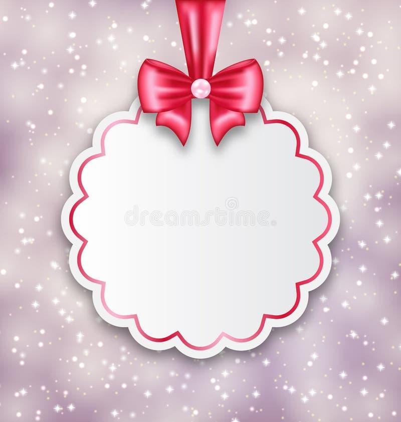 Fondo brillante con la tarjeta de papel de la celebración para la tarjeta del día de San Valentín stock de ilustración