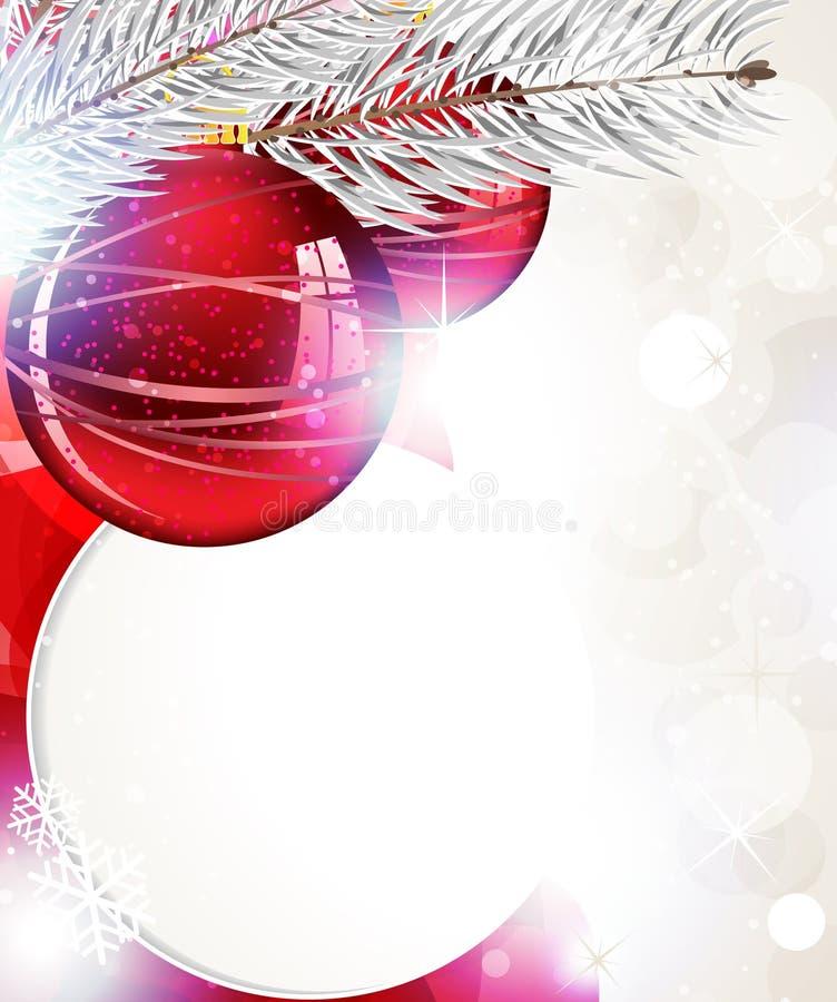 Fondo brillante de la Navidad stock de ilustración