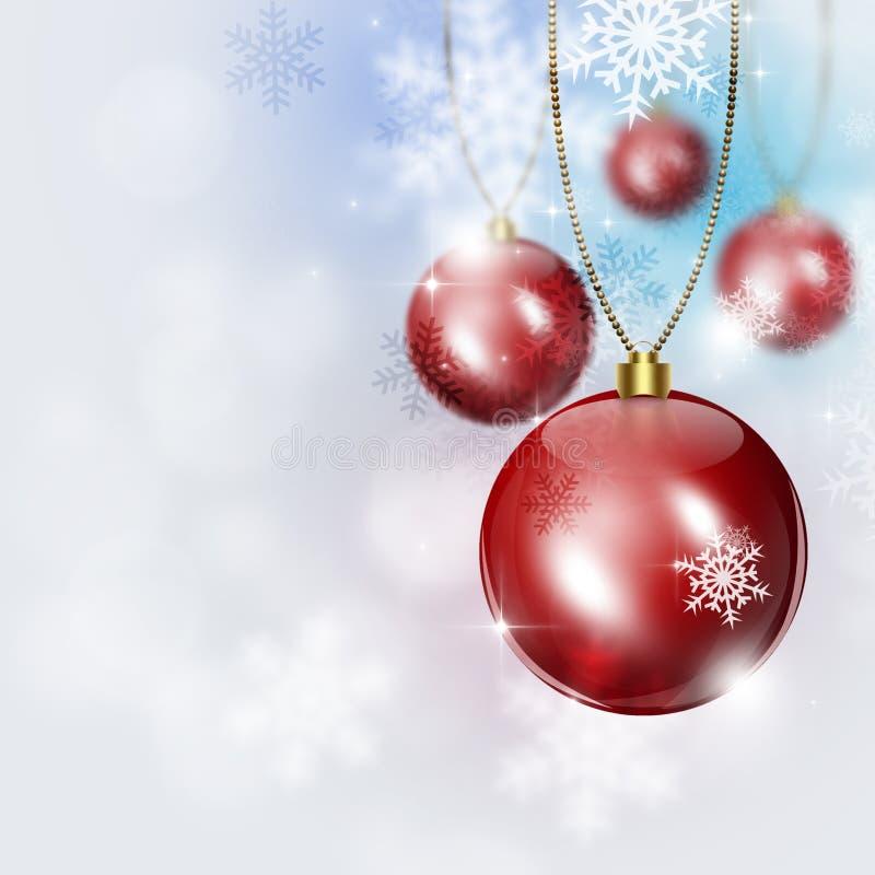 Fondo brillante de la nieve del día de fiesta stock de ilustración