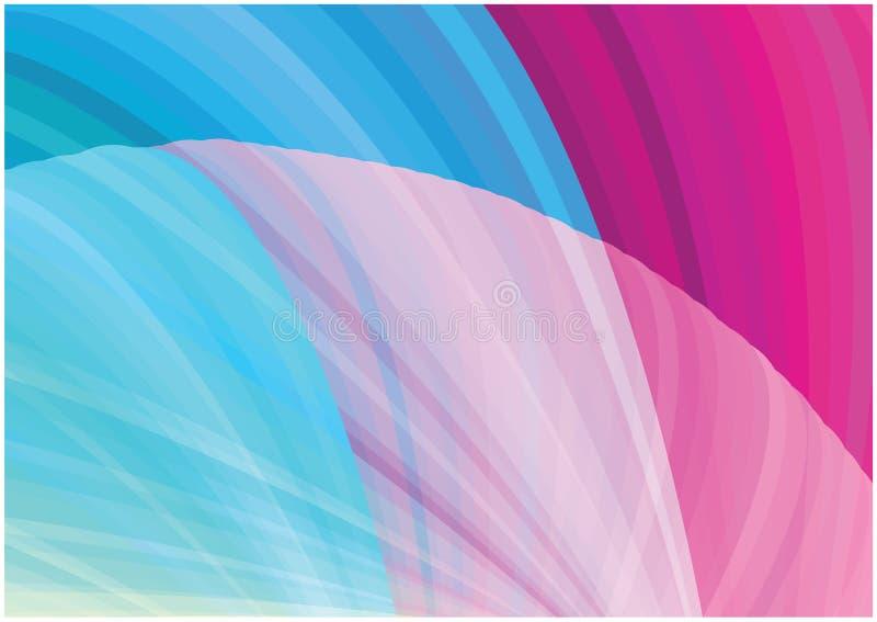 Fondo brillante de las curvas del vector abstracto ilustración del vector