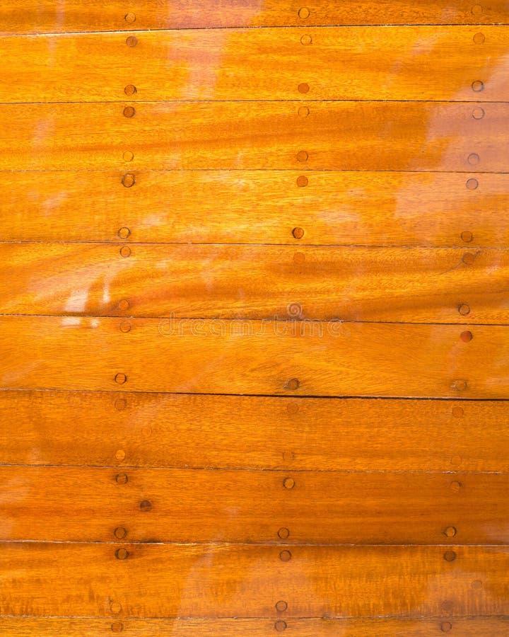 Fondo brillante de madera del barco. imagen de archivo