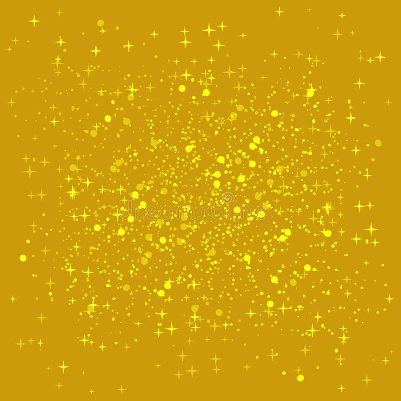 Fondo brillante de oro Fondo de las lentejuelas del oro La chispa de oro en la frontera de la forma del amor libre illustration