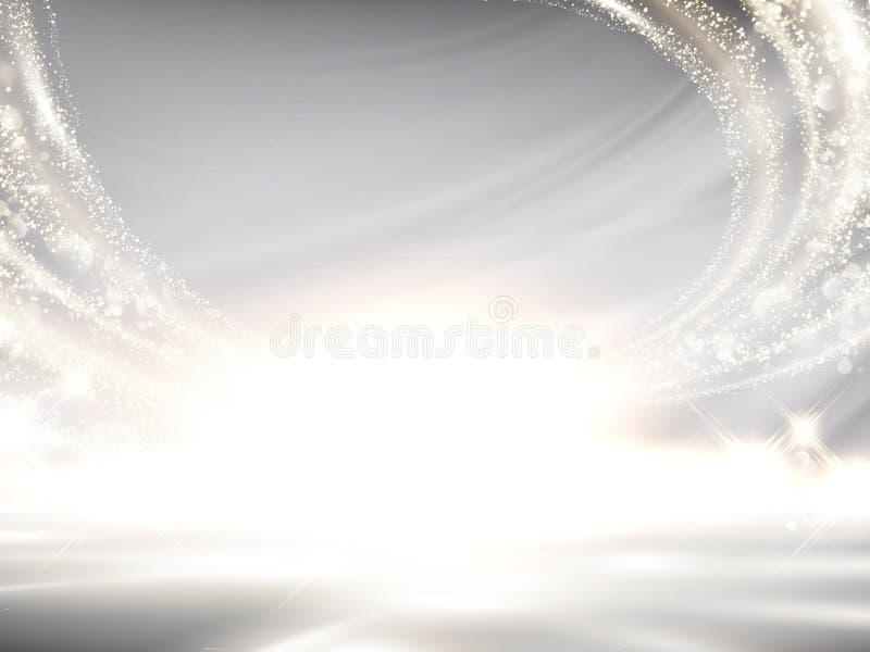 Fondo brillante del bianco perla royalty illustrazione gratis