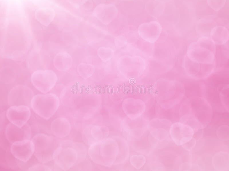 Fondo brillante del bokeh del corazón stock de ilustración